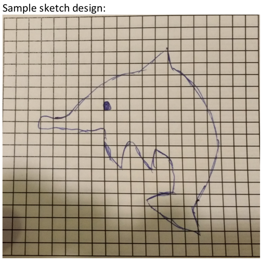 Hand drawn dolphin